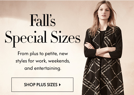 Fall's Special Sizes