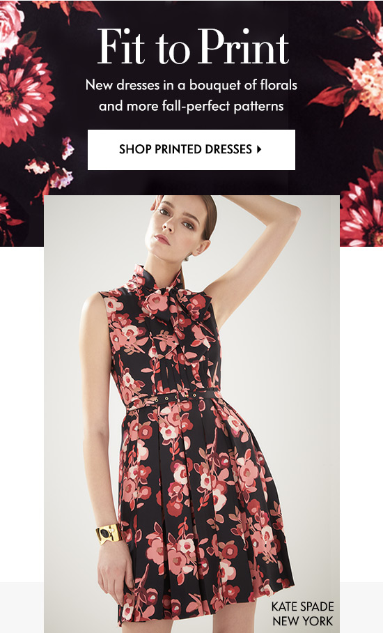 New dresses in a bouquet of florals and more fall-perfect patterns